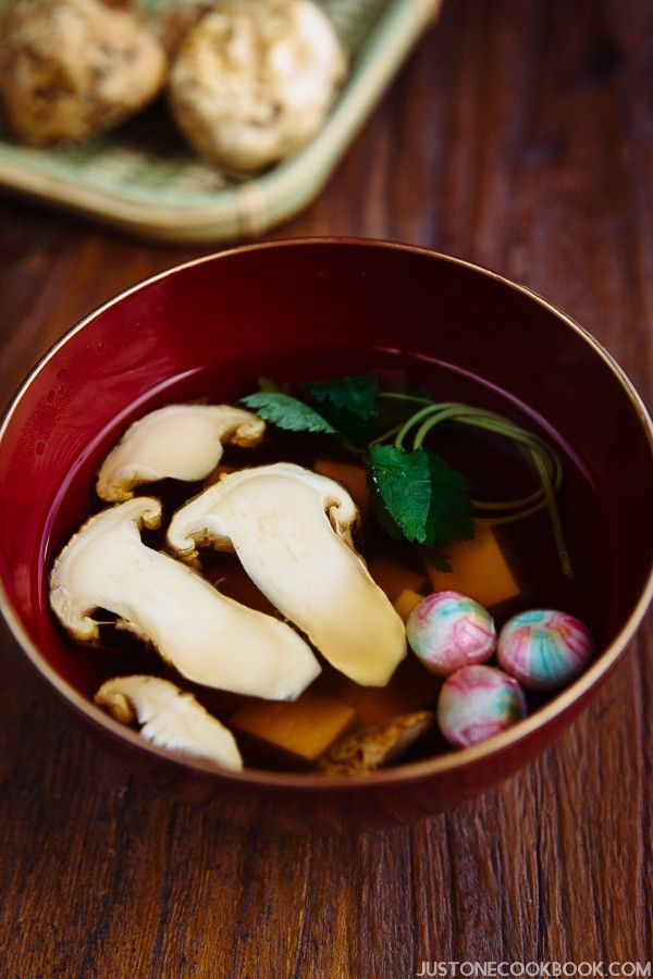 Matsutake clear soup suimono recipe clear soup japanese and easy international food forumfinder Choice Image