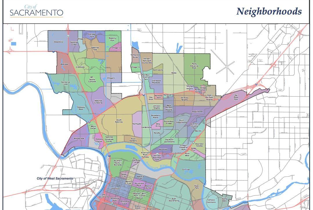 Map Of Sacramento California on