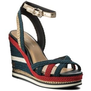 Sandalen TOMMY HILFIGER - Wedge Sandal Sporty Outsole FW0FW02251 Midnight 403 meSakSiwO