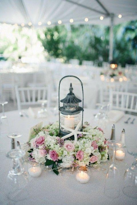 Wedding centerpieces and Beach weddings