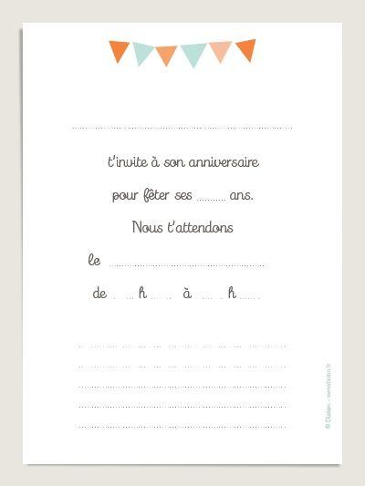 Assez 10 Cartes d'invitation anniversaire illustrées par Little Cube  TU03