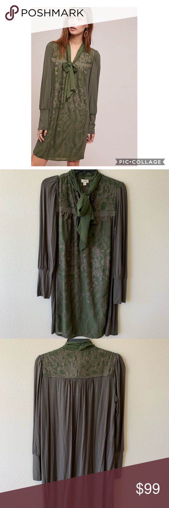 10a7e517abf NWT Top rated Anthro Isla tunic dress size small Top rated, popular  Anthropologie Isla embroidered tunic dress by TINY brand in size small.