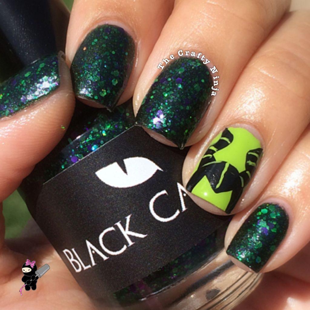 Disney Maleficent Nail Tutorial | TheCraftyNinja.com Nail Art ...