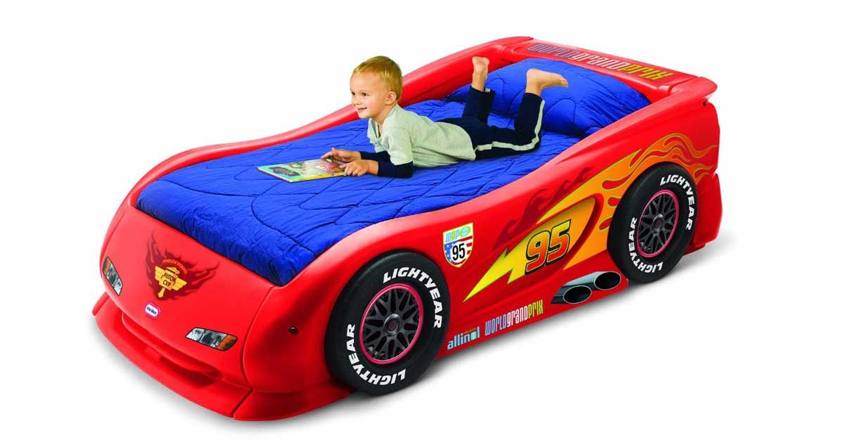 Little Tikes Cars 2 Lightning Mcqueen Sports Car Twin Bed For Boys