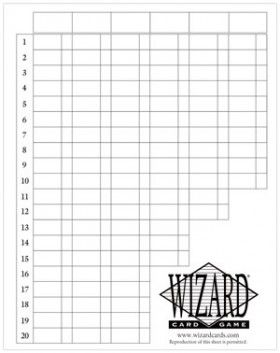 Wizard Score Sheets By Us Games Inc  Games