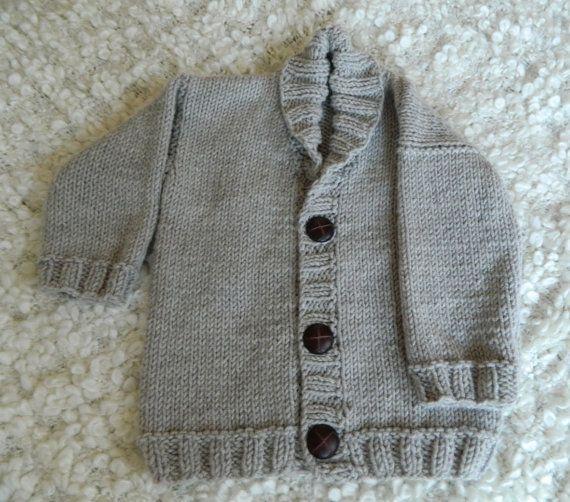 cb2dbde5d43f Knit Baby Boy Gray Sweater Bamboo Micro Acrylic by RodiAndSuzi ...