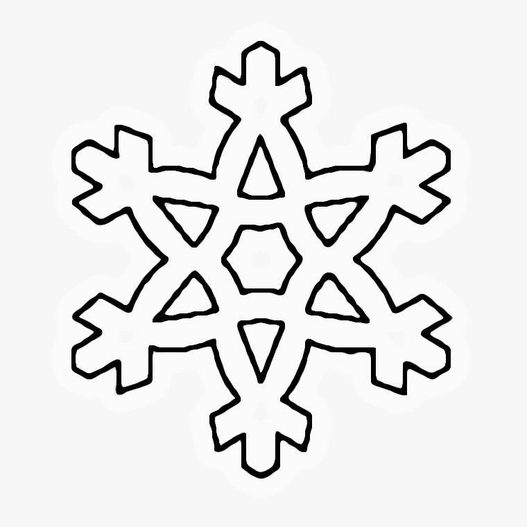 Coloriage Flocons De Neige   AZ Coloriage | Flocons de neige
