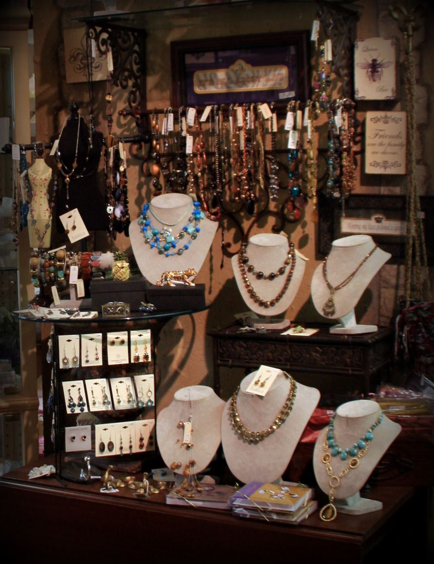 Window display ideas for jewellery  store display but could be modified for a craft show  crafty and