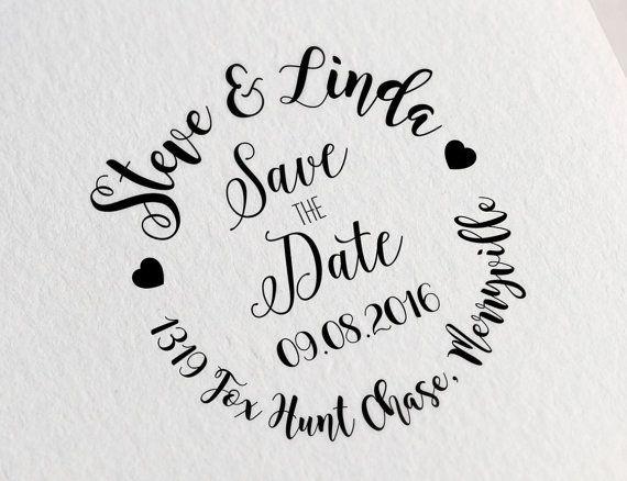 Custom Save The Date Stamp Name