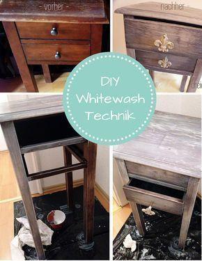 flohmarkt sch tze mit der whitewash technik neu gestalten pinterest vintage m bel flohmarkt. Black Bedroom Furniture Sets. Home Design Ideas
