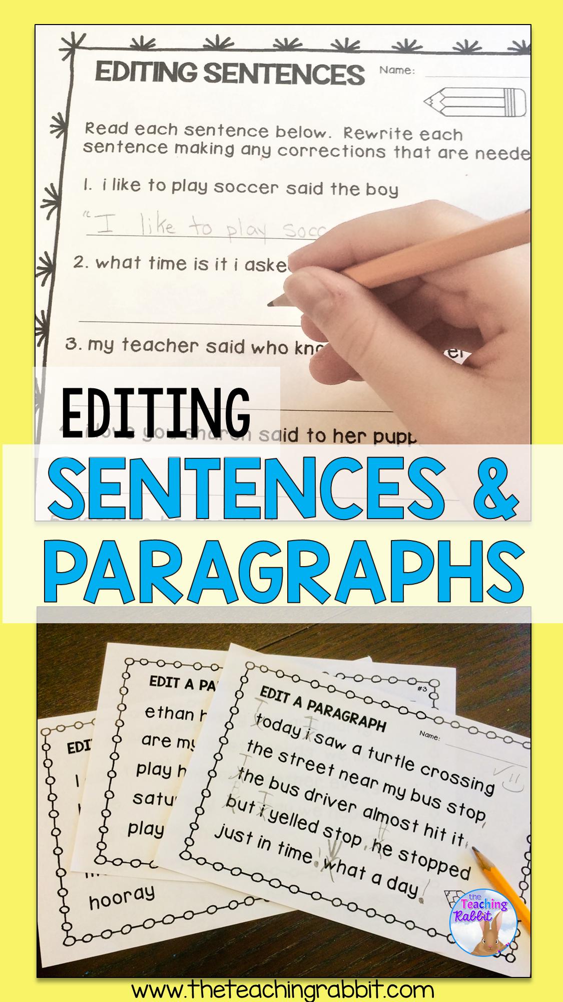 Editing Sentences Sentence Editing Capital Letters Worksheet Teaching Reading Comprehension [ 2000 x 1125 Pixel ]