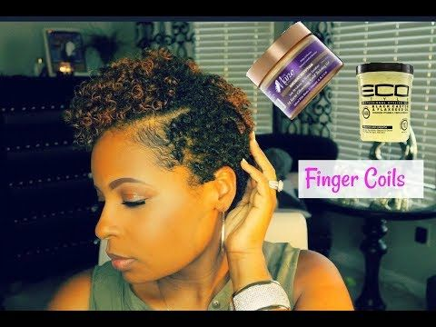 Super Defined Finger Coils On Short Natural Hairwomens Tapered Cut