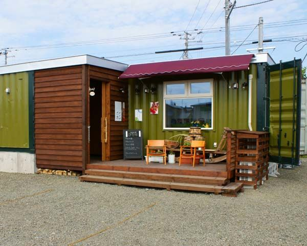 画像 20万円の家 中古コンテナに住む人々 住宅 ボックス ガレージ