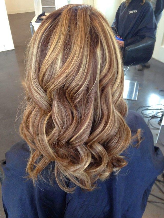 Caramel Highlights With Chocolate Lowlights Blonde Hair With
