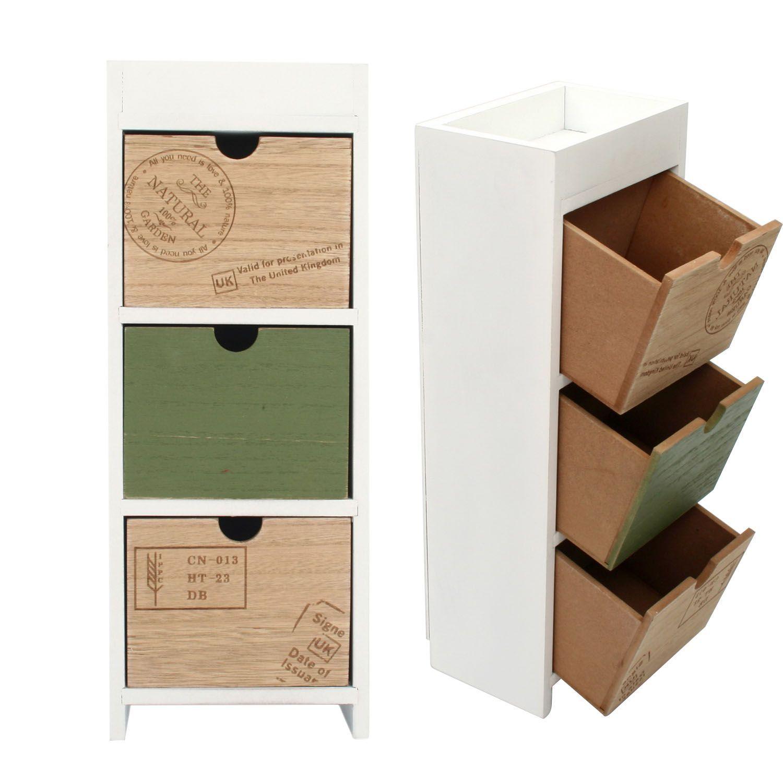 Mini cajonera 3 cajones VINTAGE NATURAL (Estanterías y cajoneras) - Sillas de diseño, mesas de diseño, muebles de diseño, Modern Classics, Contemporary Designs...