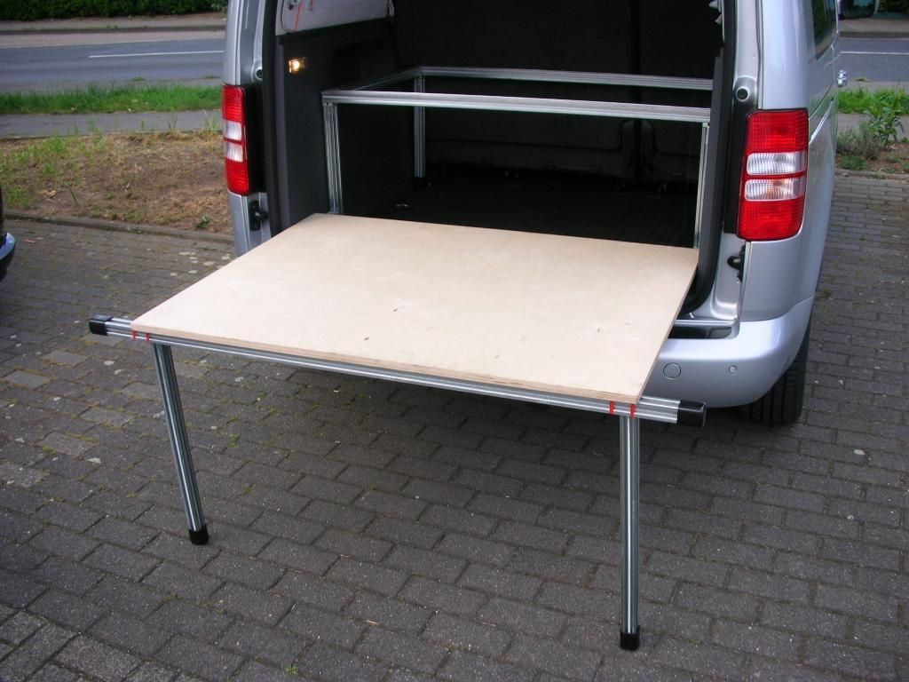 Bett für VW Caddy und Maxi,mitTischfunktion,Campingbett