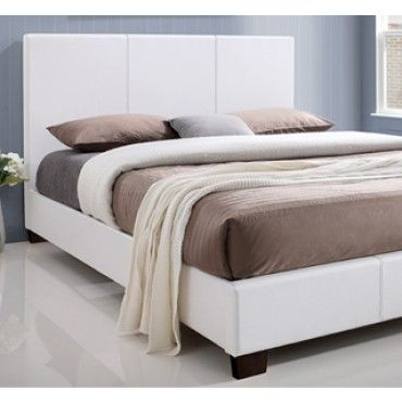 Kelsey Queen White Upholstered Bed, Upholstered Queen Bed White
