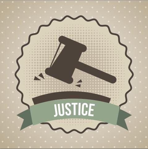 7 Moments When Justice Was Instantly Served Vector Illustration Background Vintage Illustration