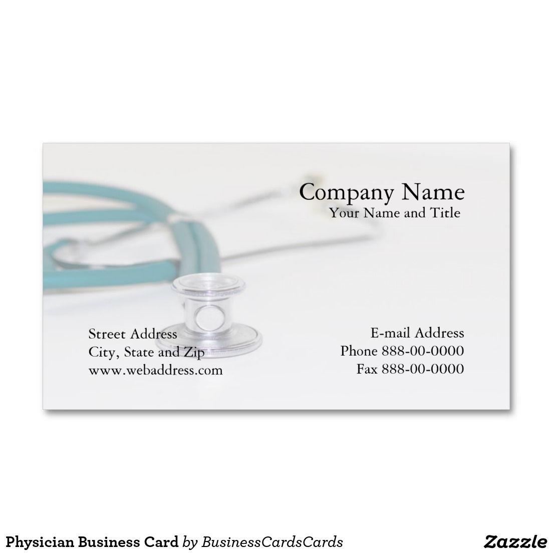 Arzt-Visitenkarte Visitenkarten | Pinterest