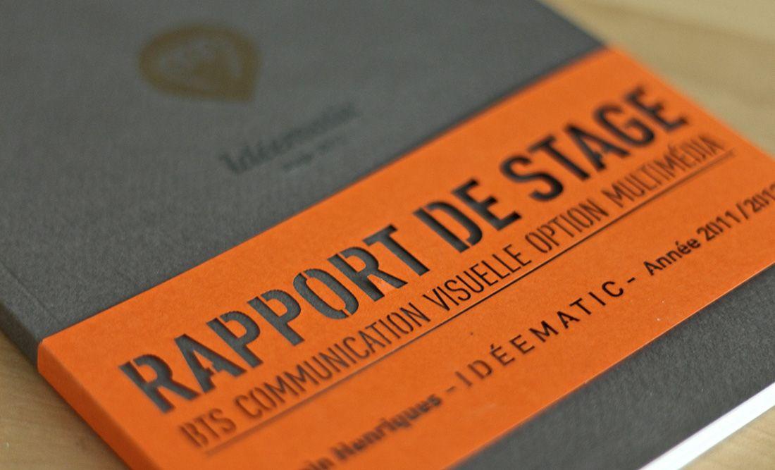 Hervorragend rapport de stage 2012 – idéematic | Romain Henriques | Graphiste  YV51
