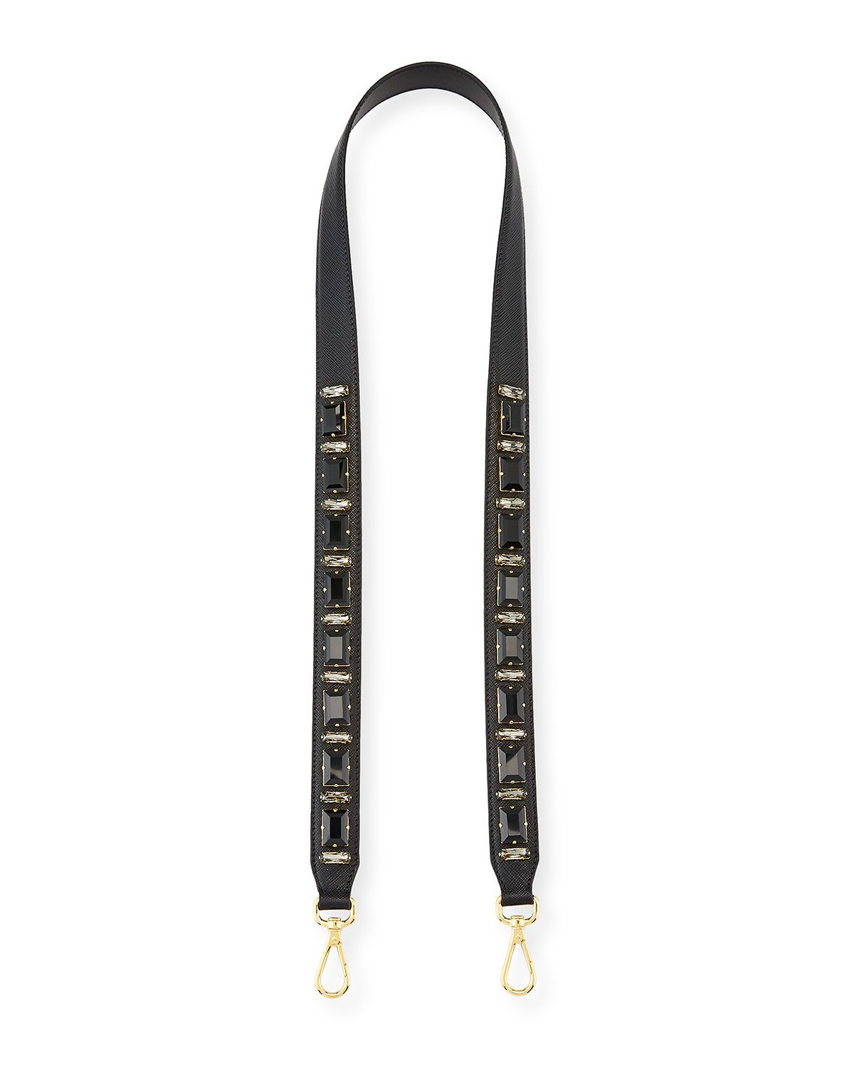 Jeweled Saffiano Strap for Handbag