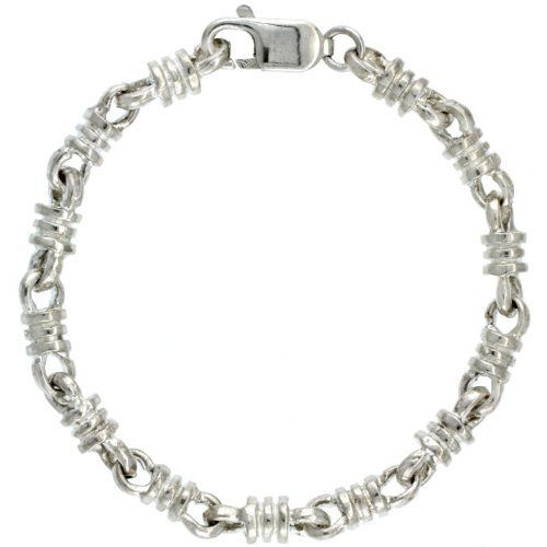 "Sterling Silver Bullet Chain Bracelet 7 in. (Also Available in 8""), 1/4 in. (6mm) wide Sabrina Silver. $115.58"
