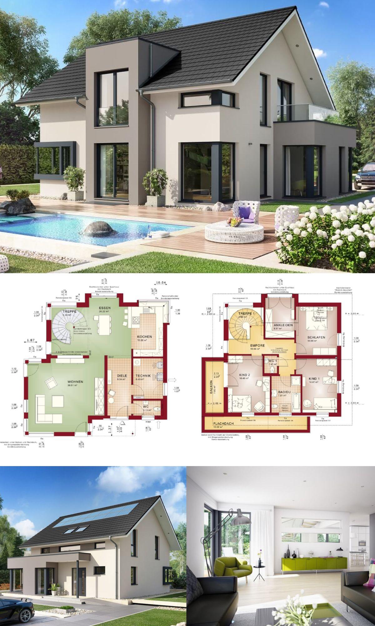 Einfamilienhaus mit satteldach haus concept m 159 for Fertighaus grundrisse einfamilienhaus