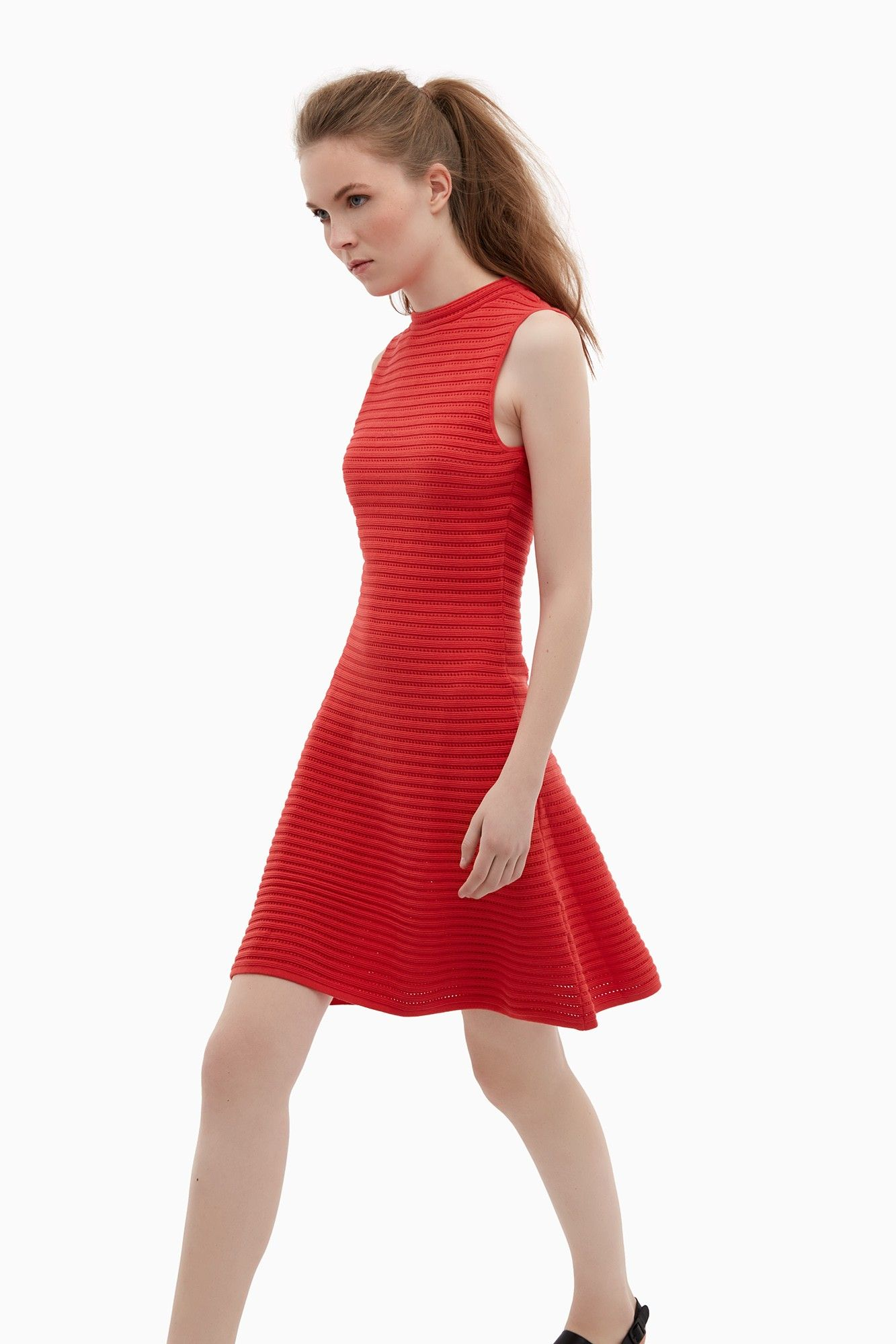 Vestido lady de punto calado - U WOMAN | Adolfo Dominguez shop online