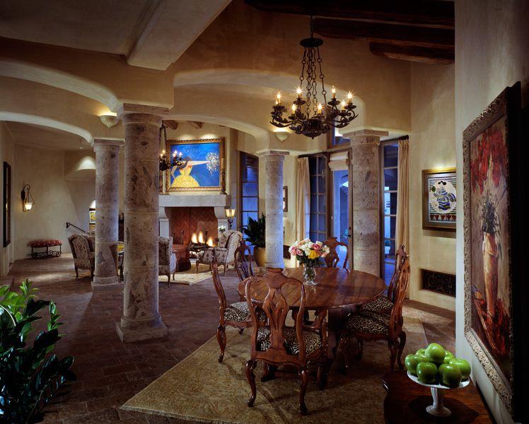 Tuscan Style Home Janet Brooks Design Scottsdale Arizona