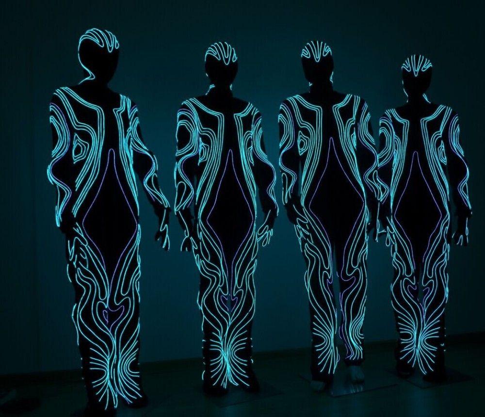 Free shipping LED luminous Costumes / light robot suit / clothing ...