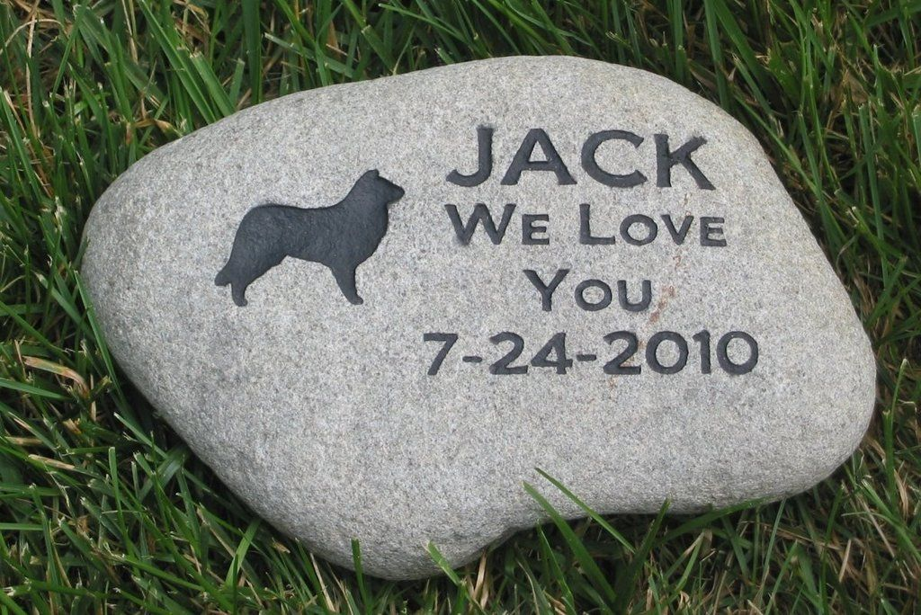Memorial Stone Border Collie Headstone Tombstone 9 10