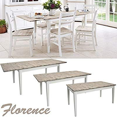 Florence large rectangular dining table White extendable kitchen