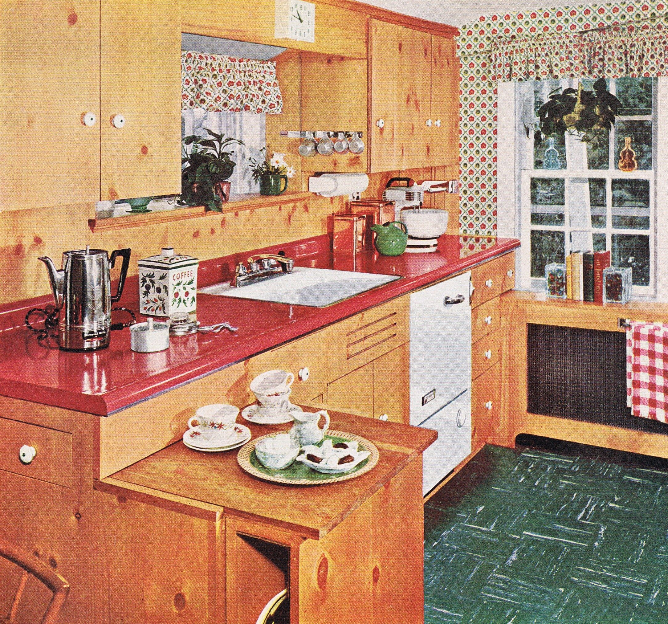 Old Knotty Pine Cabinets: Classic 50's Knotty Pine Kitchen