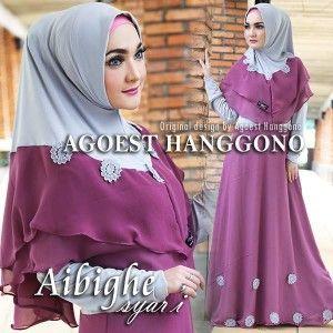 Gamis Cantik Aibighe Syar I Ungu Violet Online Shop Violet