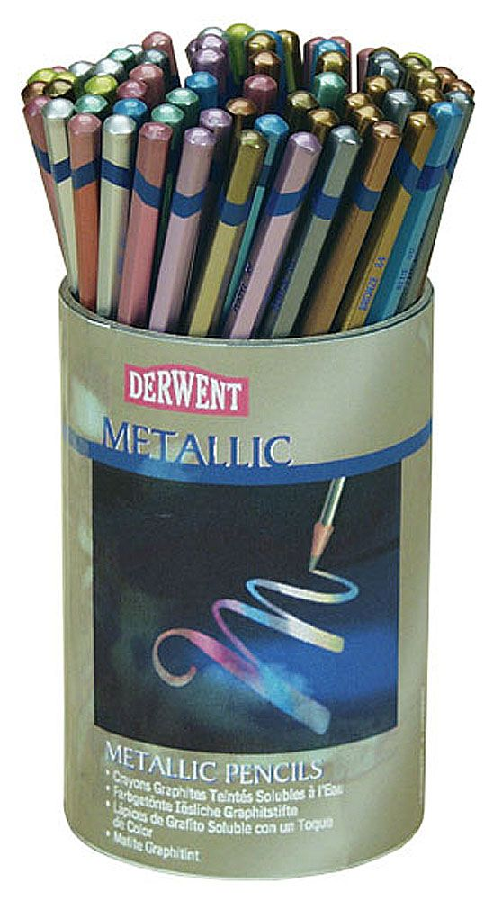 Derwent Studio Metallic Watercolor Pencil Sets Jerrysartarama
