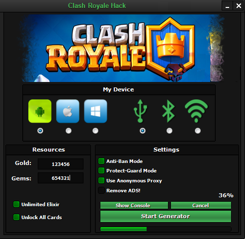 Royale Hack Tool Clash Royale Hack Tool Clash 8/05/2016 7:02