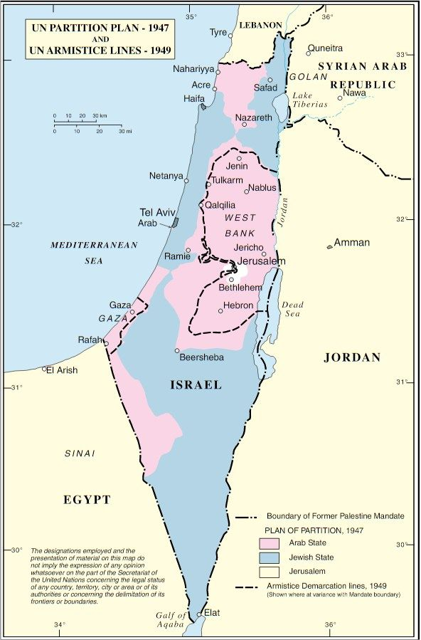 Understanding The Partition Plan Palestine Israel Palestine Conflict How To Plan