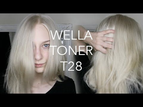 Wella T28 Demo Watch Me Tone My Blonde Hair Youtube Wella