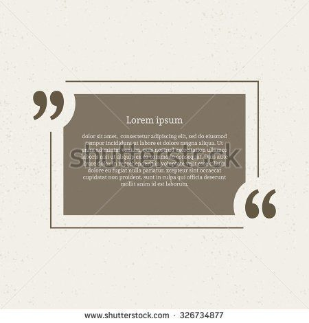 Quotation Mark Speech Bubble Empty Quote Blank Citation Template