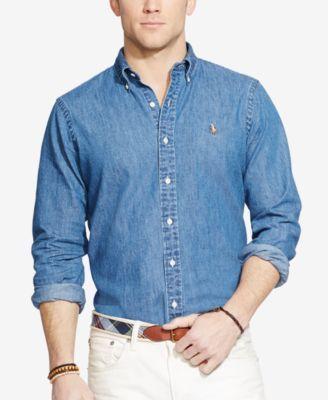 562a23ce01 Polo Ralph Lauren Men s Classic-Fit Denim Shirt - Denim L in 2019 ...