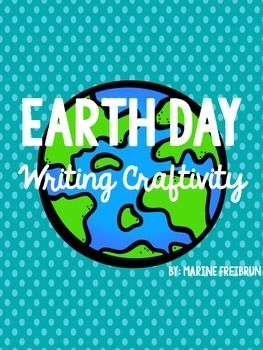 Here's a FREE writing craftivity to celebrate Earth Day!Check out my blog for step by step instructions on how to assemble and use this fun project!Earth Day Writing-How To