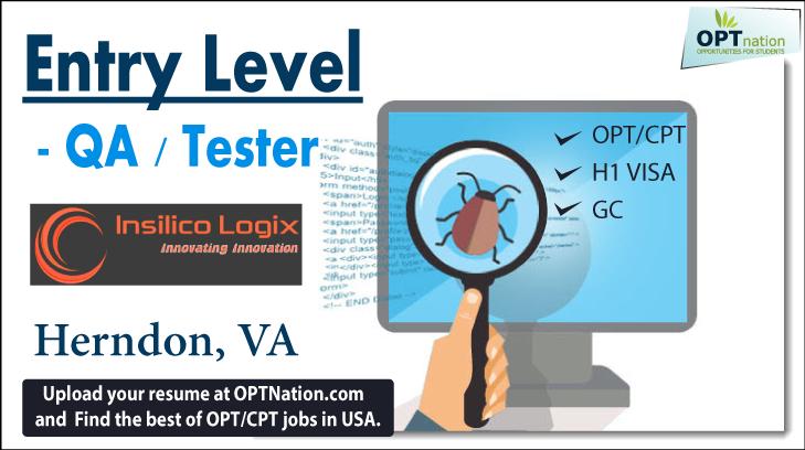 entry level- qa    tester insilico logix