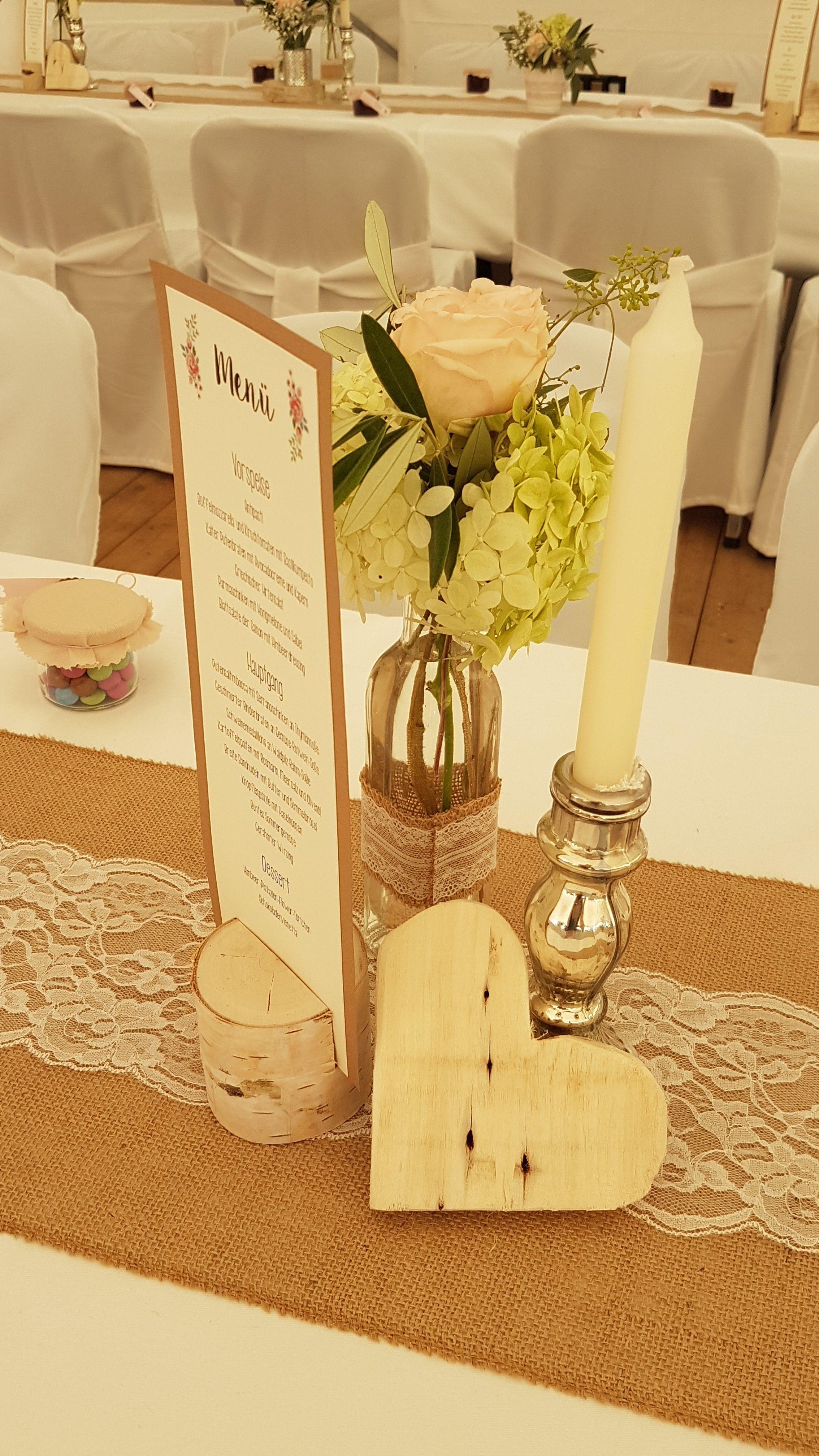 Hochzeit Polterabend Tischdeko Tisch Rustikal Vintage Holz Birke Selber Machen Holz Diy Hochzeit Planen Selber Machen Tisch