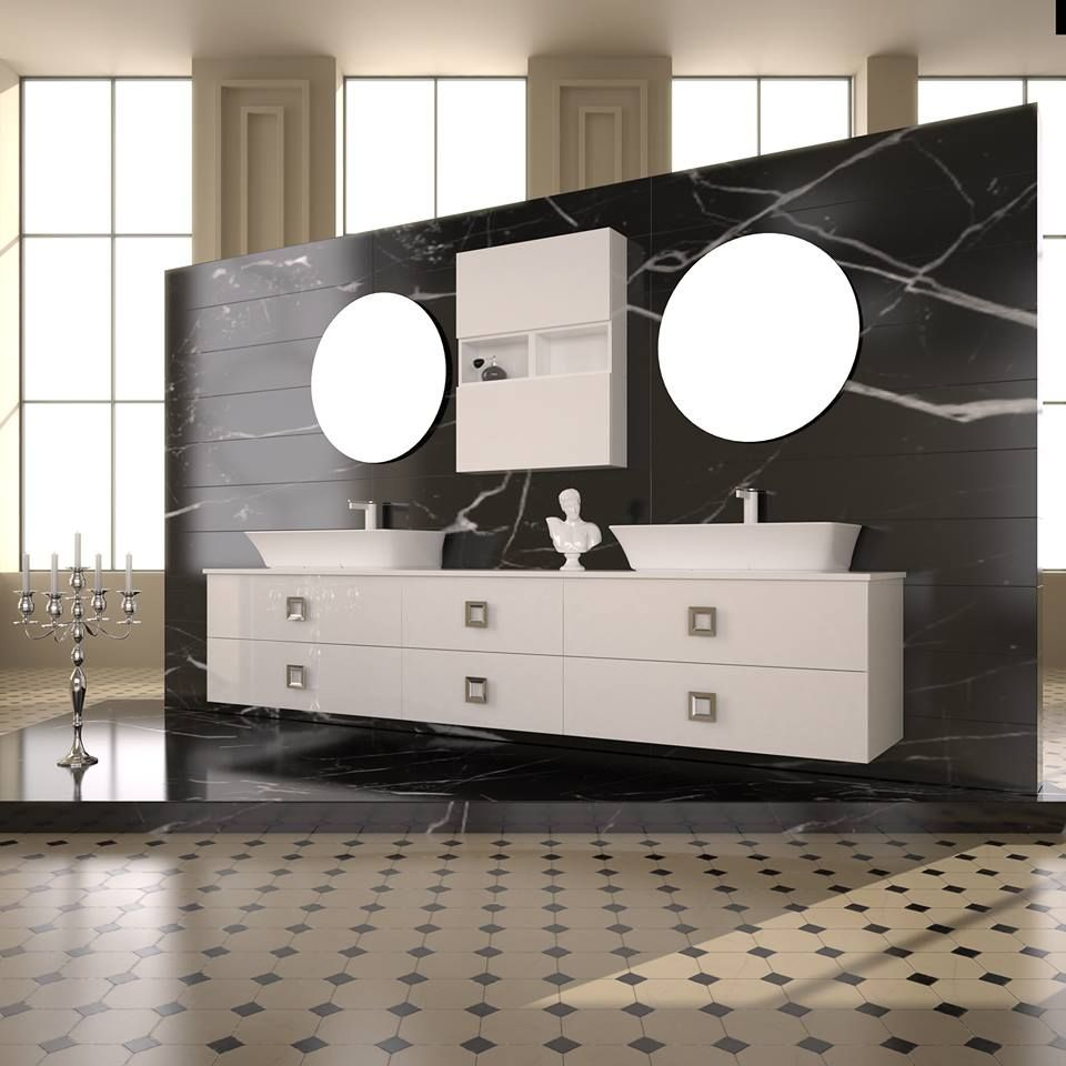 """ULTIMA"" BATHROOM FURNITURE,home,new,interior design,accesories,set,new,style,bath,tiles,product,idea,decoration,woman,mirror,porcelain,επιπλο μπανιου,μπανιο,νιπτηρας,καθρεπτης,πλακακια,idea,spa,architecture,decoration, BLACK,white ,CLASSIC,MODERN"