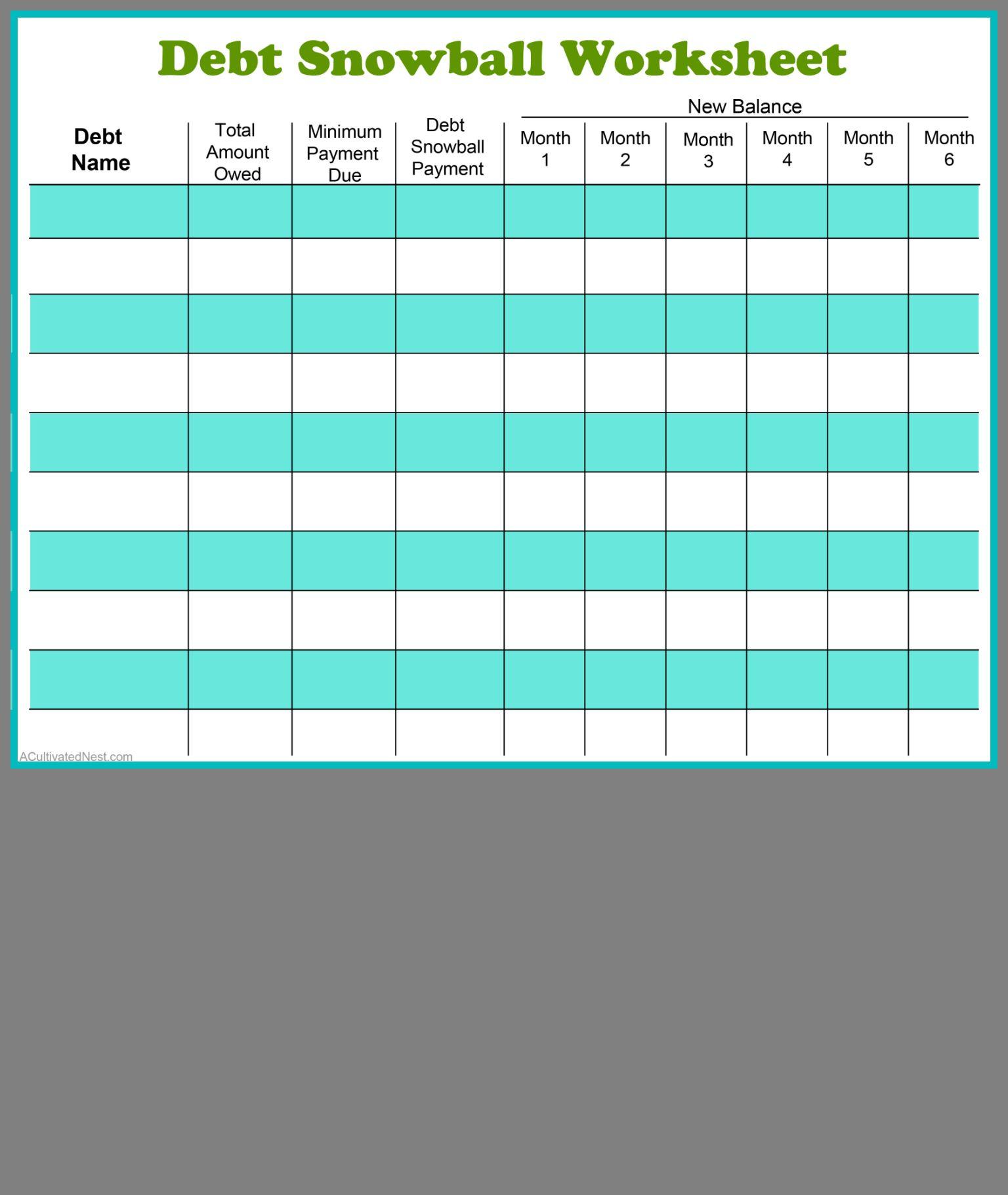 Snowball Worksheet