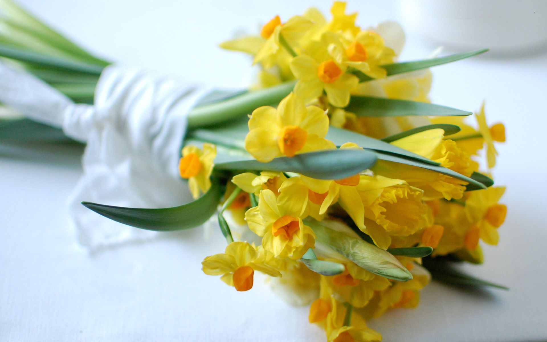 Spring (With images) Daffodil bouquet, Cheap wedding