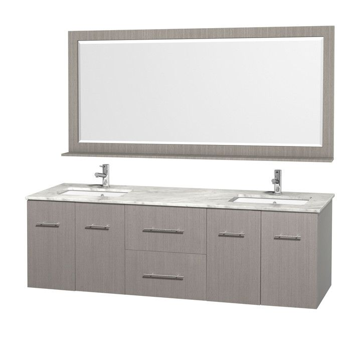 "Wyndham Collection Centra 72"" Double Bathroom Vanity Set With Unique Bathroom Cabinet Reviews Inspiration Design"