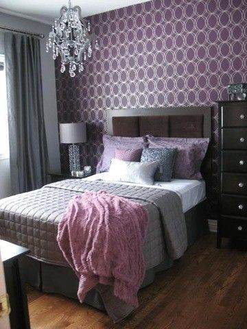 Glamorous Lavender And Gray Bedroom Nice Balance Of