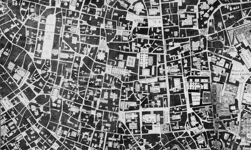 Kort Over Rom Nolli Kort Tegninger