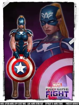 marvel future fight captain america 2099 by datkofguy comic and